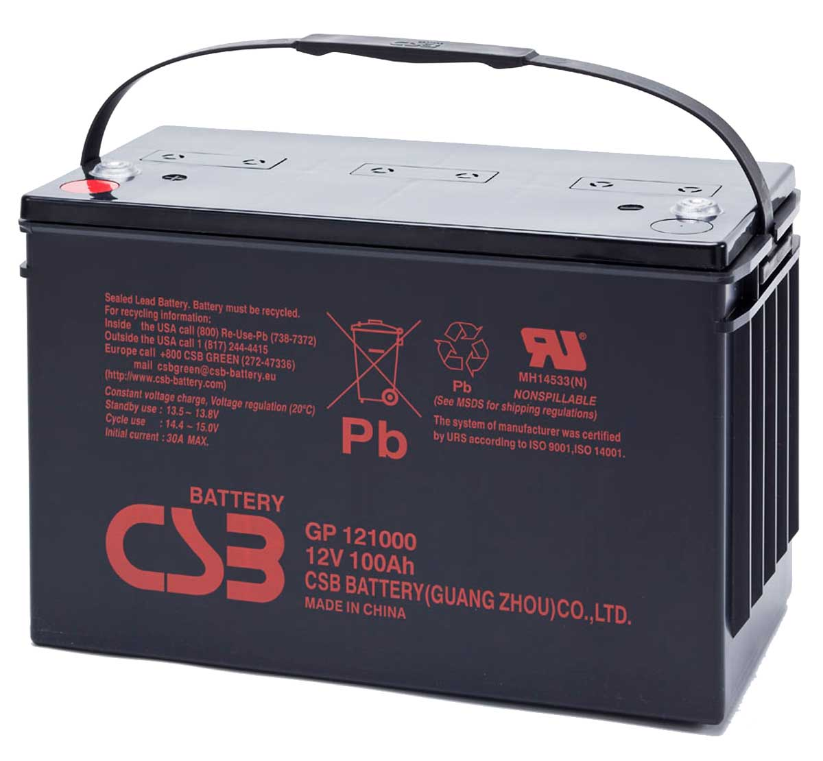 Csb Gp121000 12v 100ah Sealed Lead Acid Battery Mds Battery