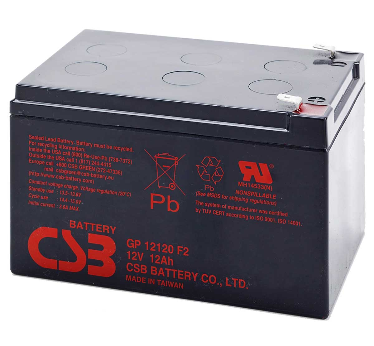 Lead Acid Battery 12v 12ah Gpl Csb Akkus