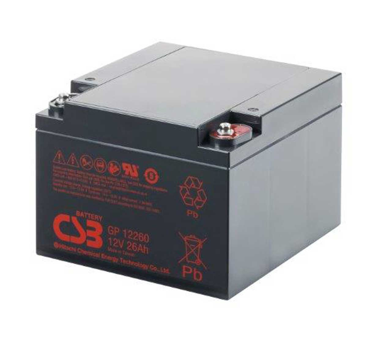 CSB GP12260 12V 26Ah Sealed Lead Acid Battery