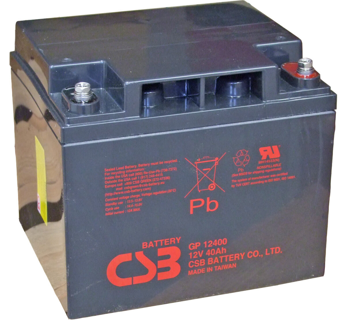 CSB GP12400 12V 40Ah Sealed Lead Acid Battery