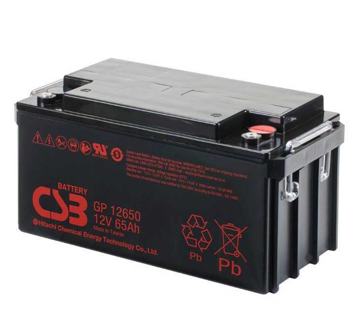 CSB GP12650 12V 65Ah Sealed Lead Acid Battery