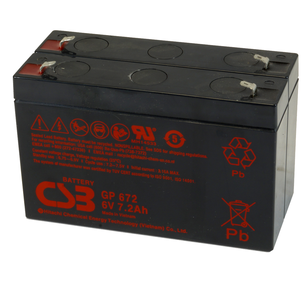 CSB GP672 F1 6V Battery - Pack of 2