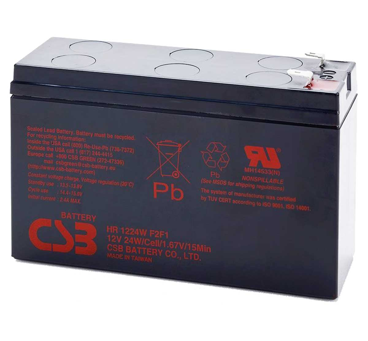 CSB HR1224W 12V 24W Lead Acid Battery