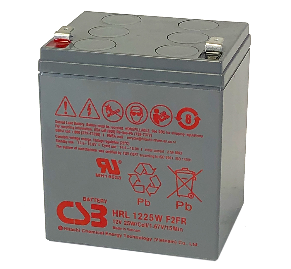 CSB HRL1225W 12V 25W Lead Acid Battery
