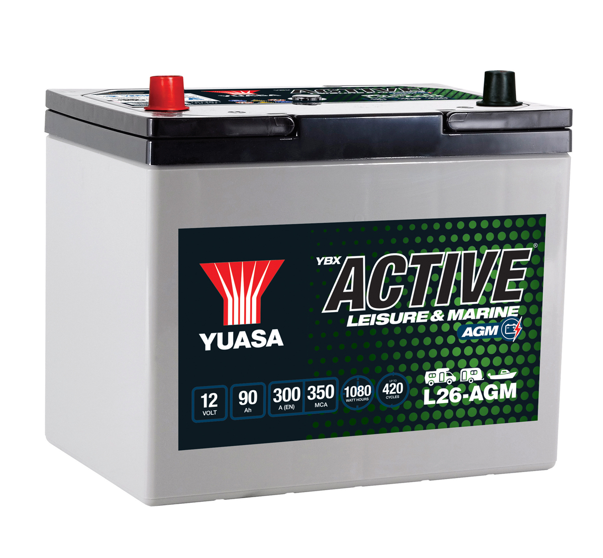 Yuasa YBX Active L26-AGM Leisure Battery