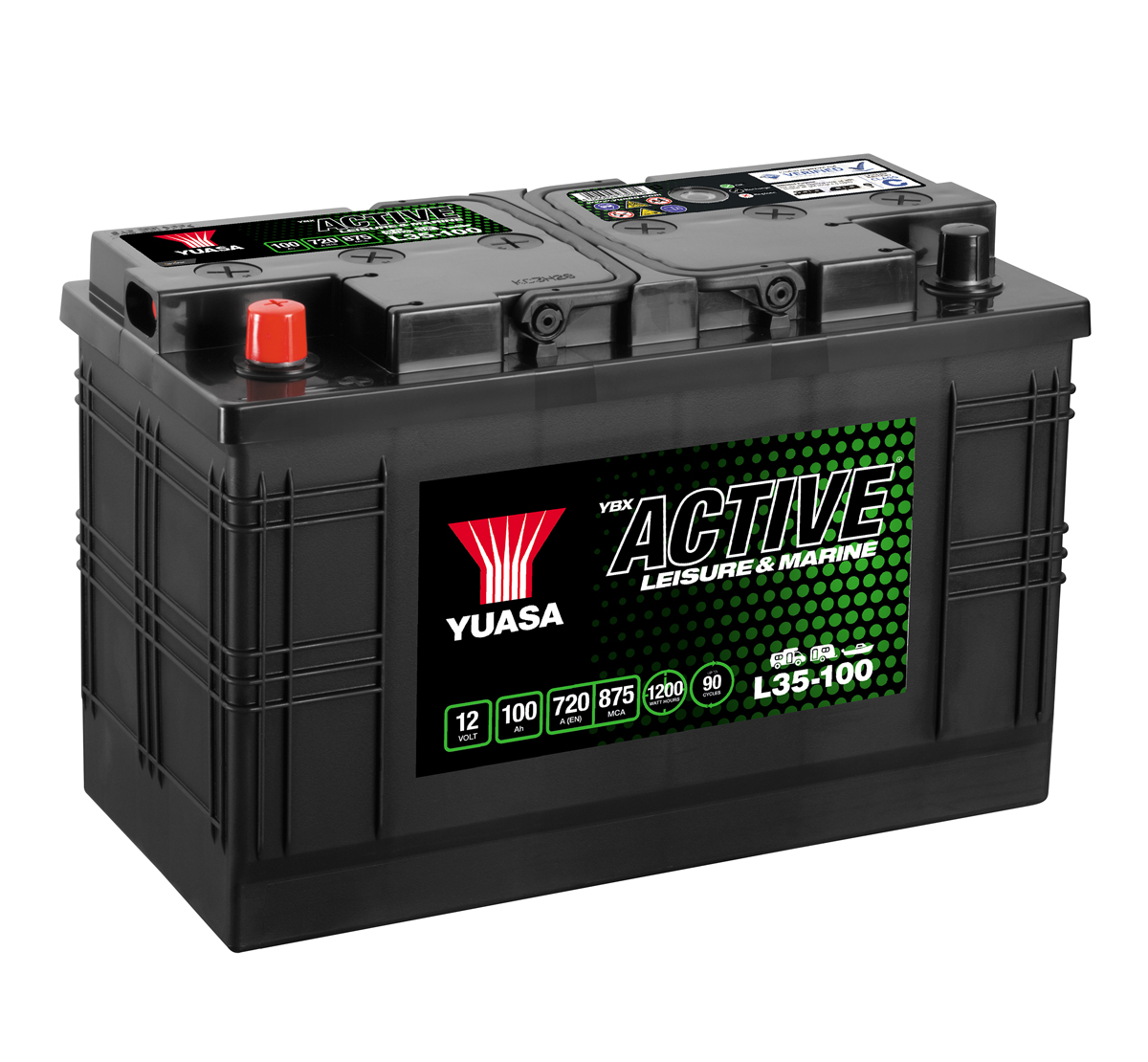 Yuasa YBX Active L35-100 Leisure Battery