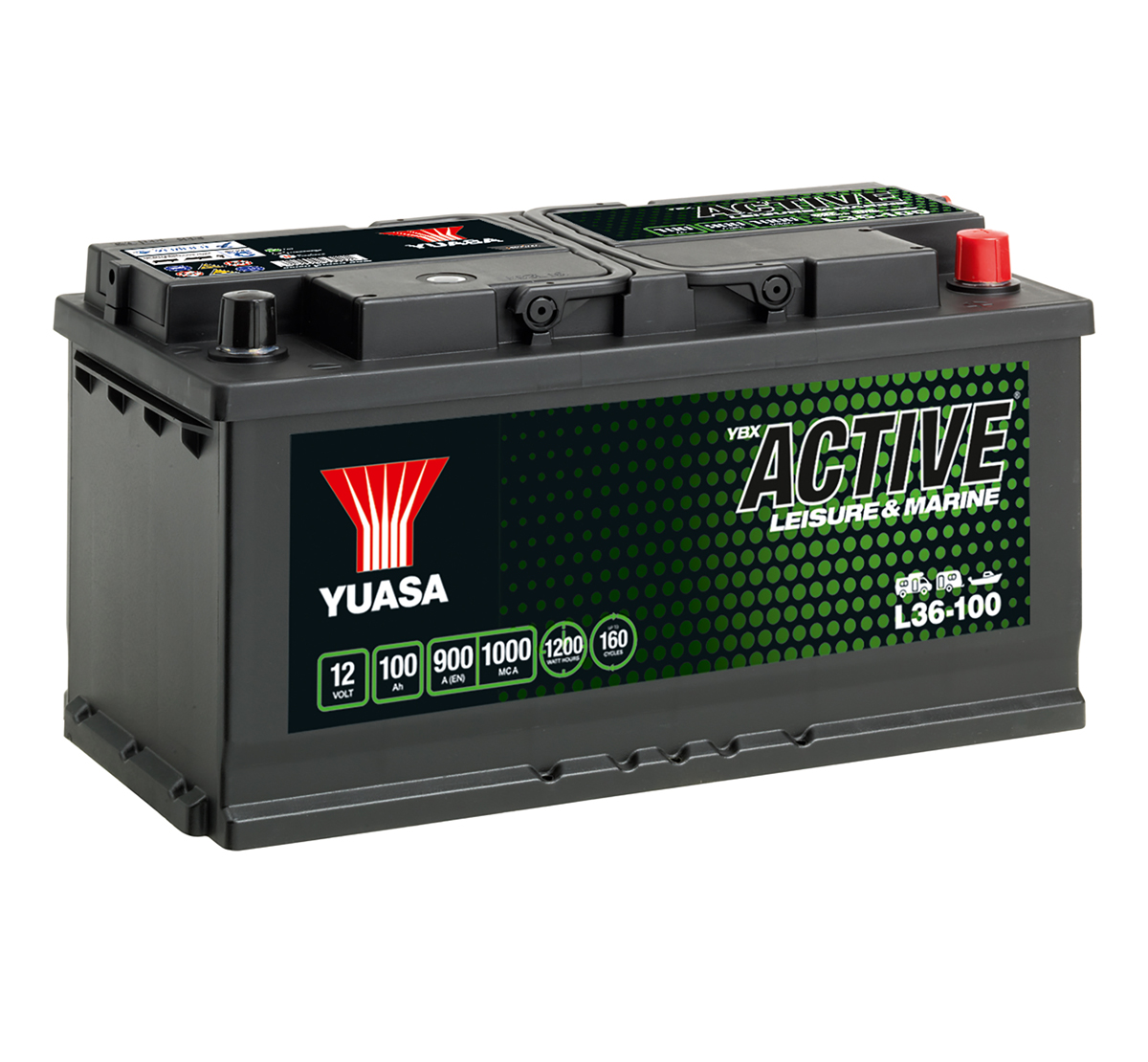 Yuasa YBX Active L36-100 Leisure Battery