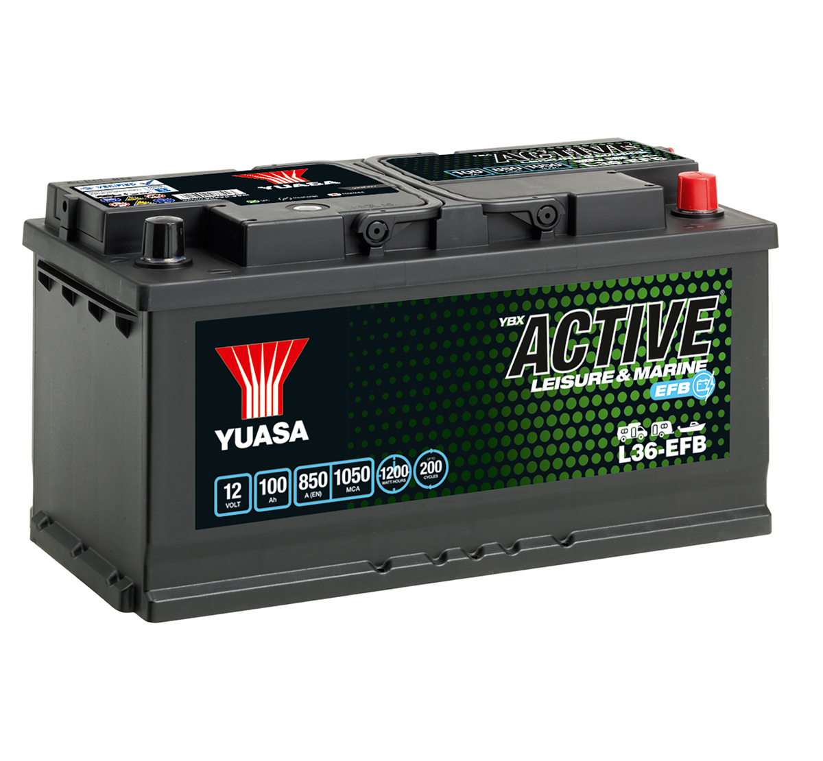 Yuasa YBX Active L36-EFB Leisure Battery