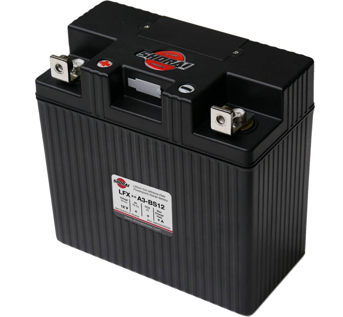 Shorai LFX36L3-BS12 12V 36AH  Lithium Battery