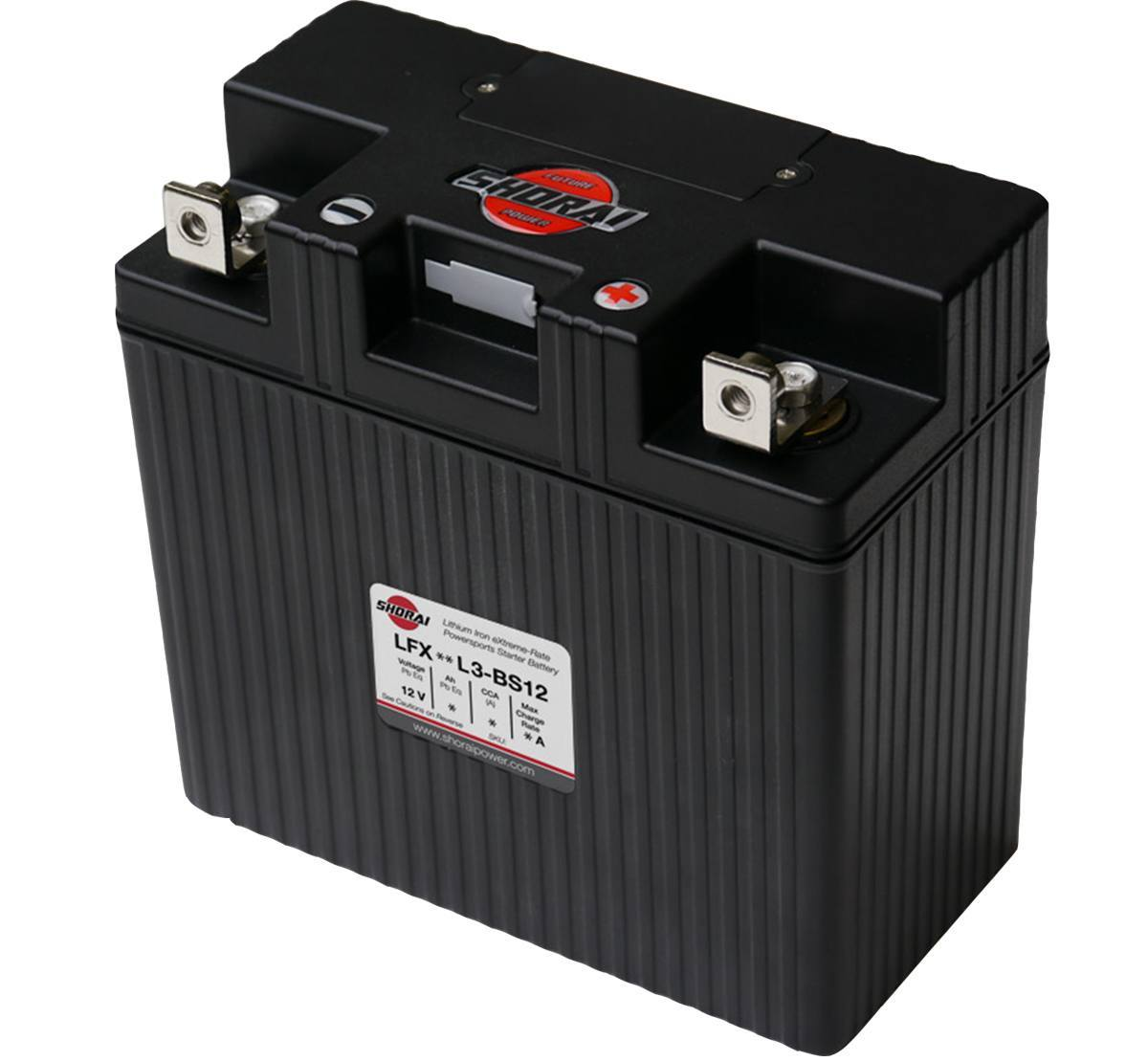 Shorai LFX27L3-BS12 12v 27Ah Lithium Battery