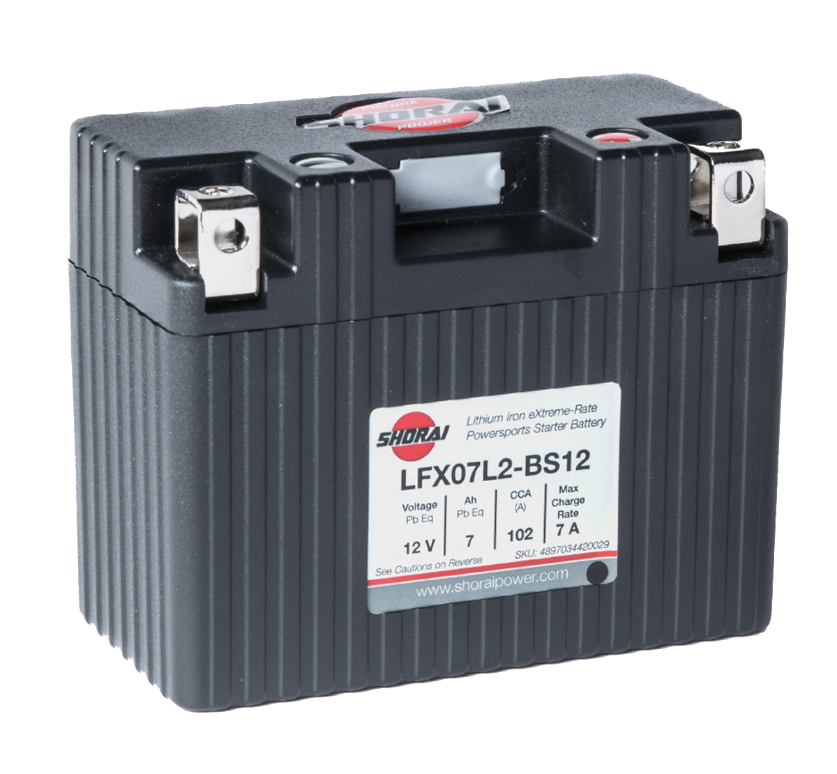 Shorai LFX07L2-BS12 12V 7Ah Lithium Battery