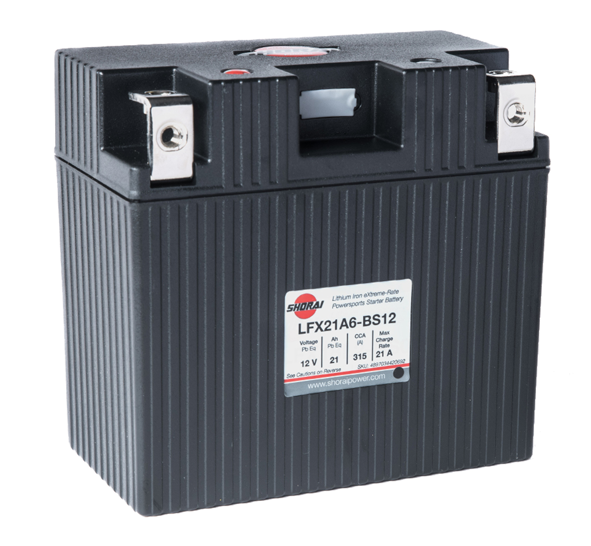 Shorai LFX21A6-BS12  12v 21Ah Lithium Battery