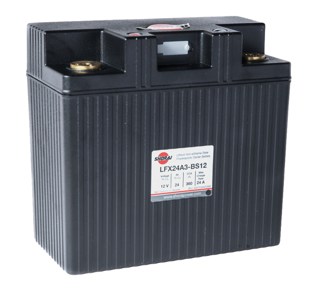 Shorai LFX24A3-BS12 12v 24AH Lithium Battery