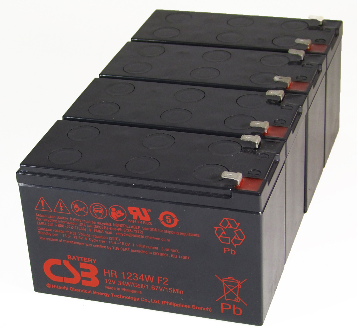 MDS115 UPS Battery Kit - Replaces APC RBC115