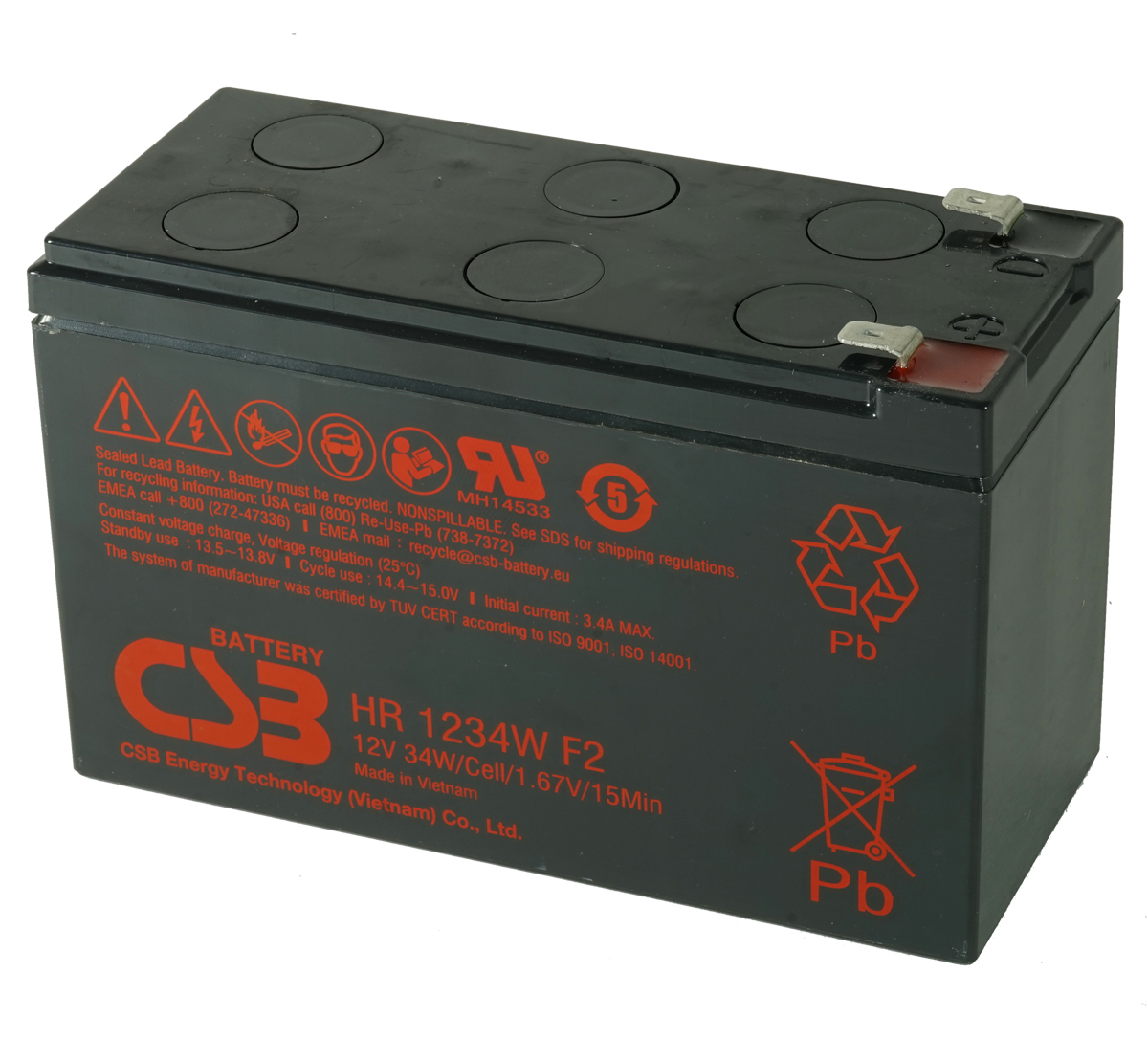 MDS17 UPS Battery Kit - Replaces APC RBC17