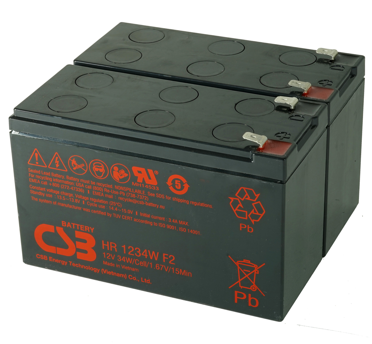 MDS62 UPS Battery Kit - Replaces APC RBC62