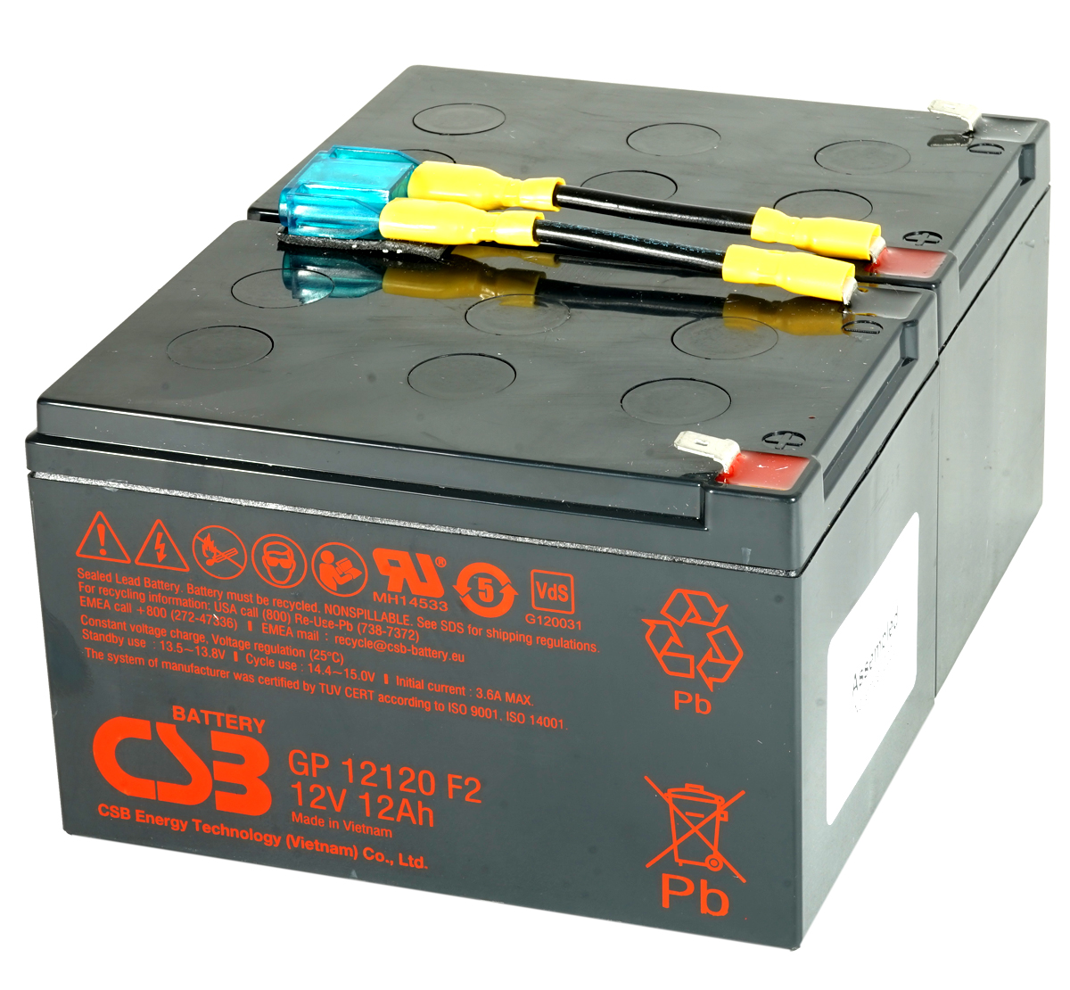 MDS6 UPS Battery Kit - Replaces APC RBC6