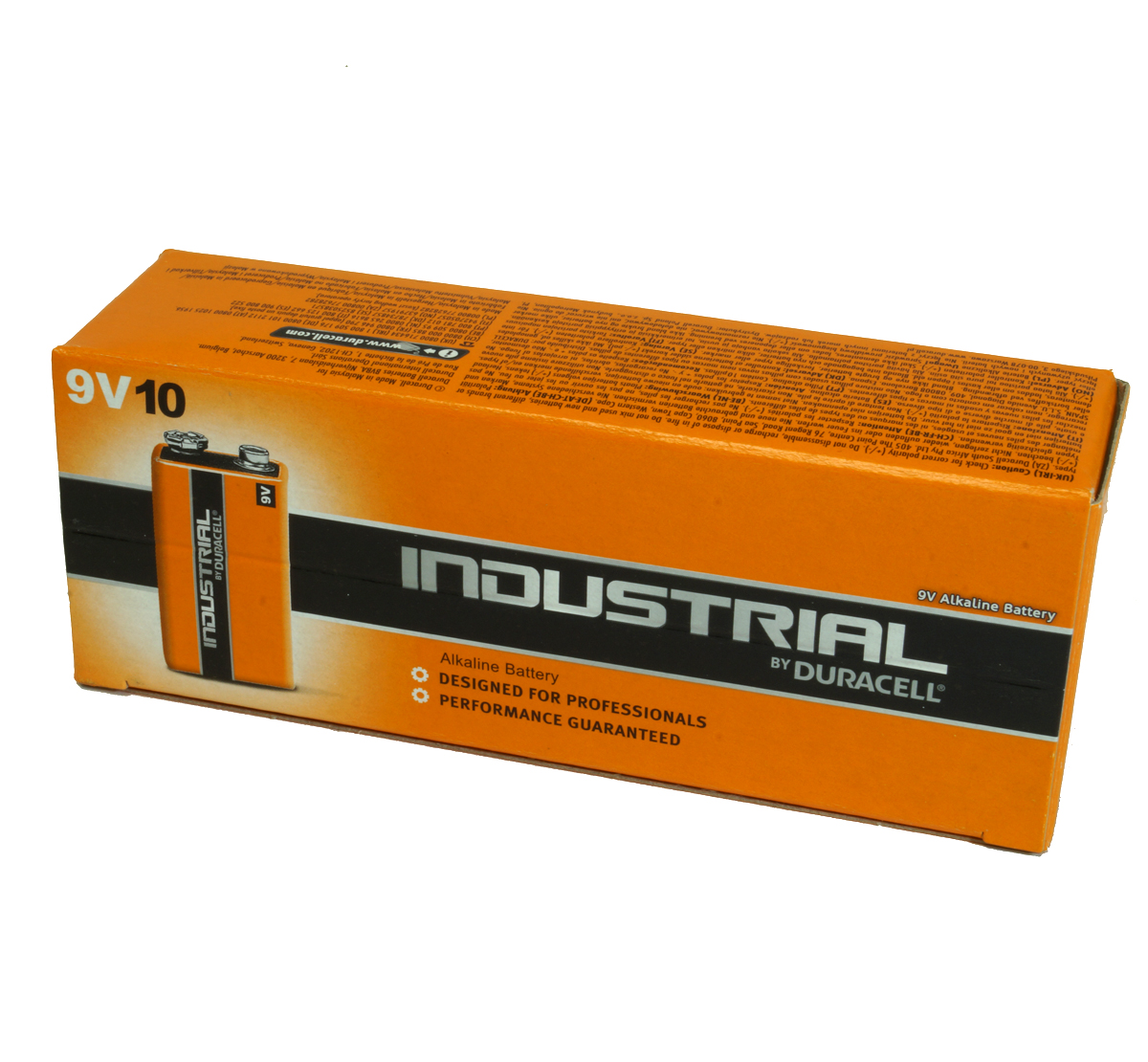 Duracell Industrial MN1604 9v PP3 Box 10 Alkaline Battery