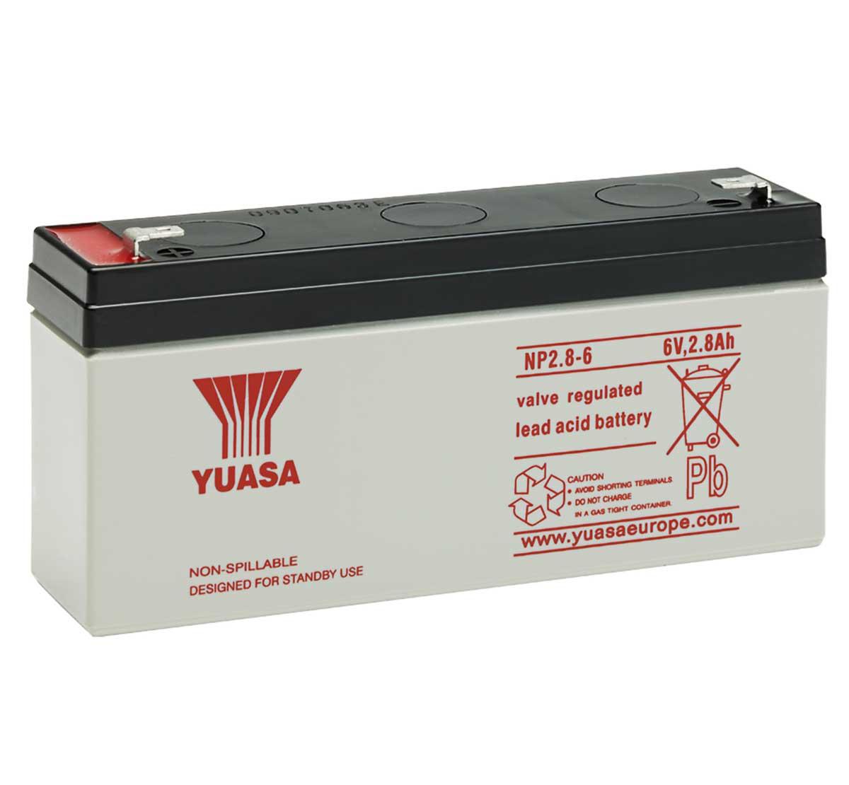 Sun Battery SB6-1.2 6Volt 1,2Ah 1,3Ah Long WP1.2-6