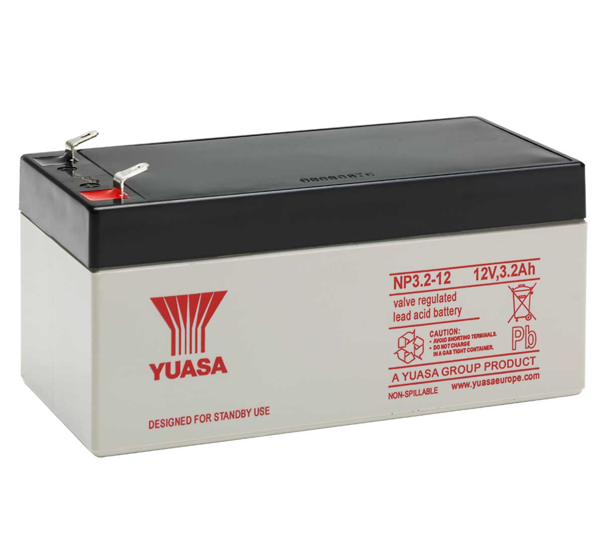 Yuasa NP3.2-12 12V 3Ah Sealed Lead Acid Battery