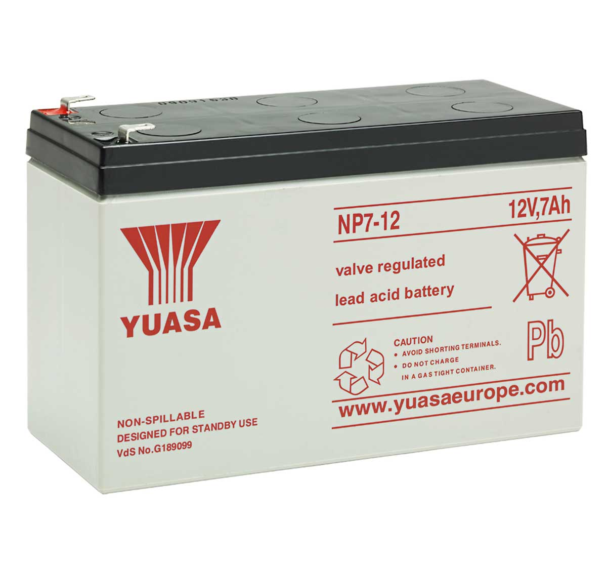 np7 12 12v 7ah yuasa lead acid battery mds battery. Black Bedroom Furniture Sets. Home Design Ideas