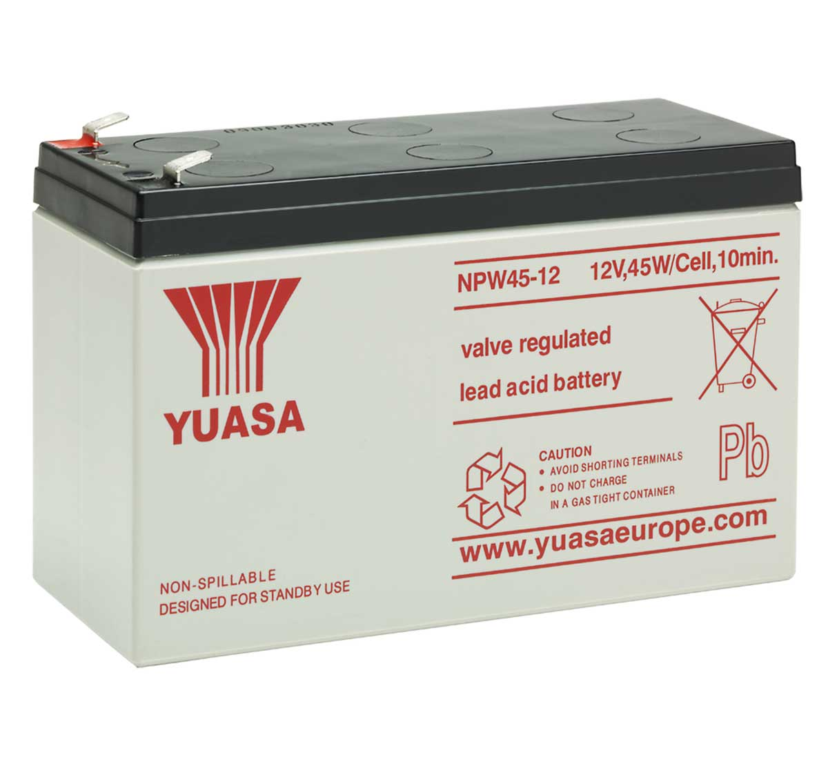 Yuasa NPW45-12 High Rate Discharge Battery
