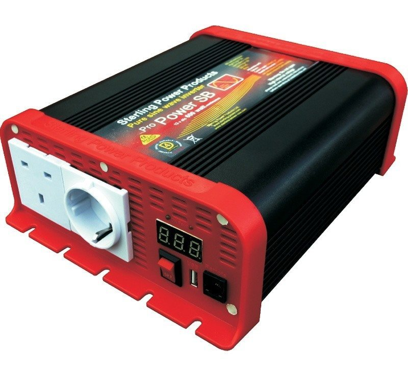 Sterling Power 600W Pro Power SB 12V Pure Sine Wave Inverter SIB12600