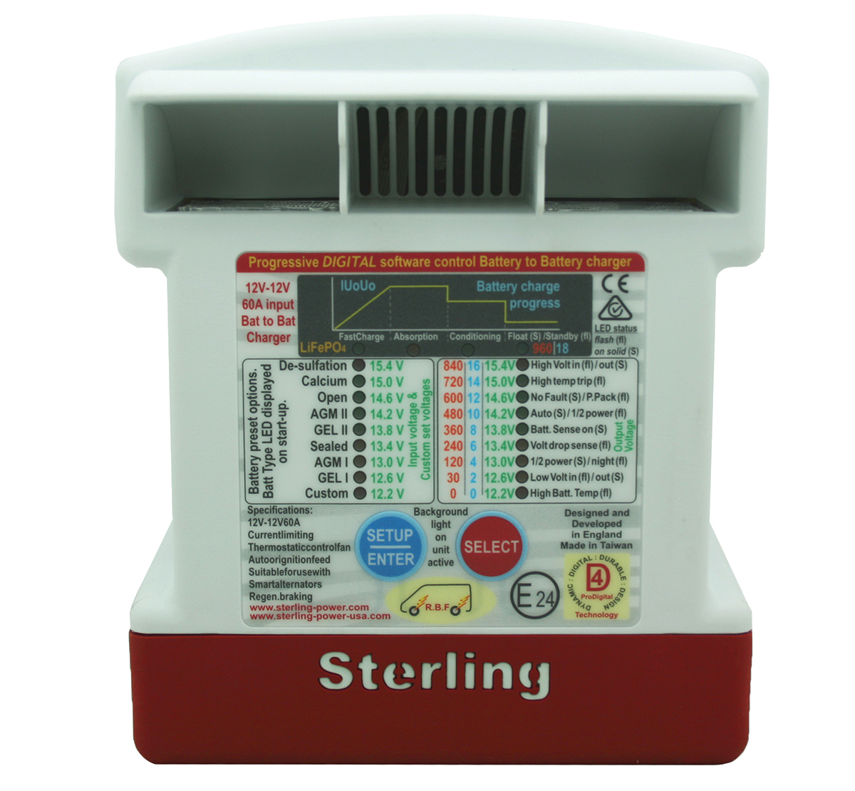 Sterling Power 12V 60A Battery to Battery Charger BB1260