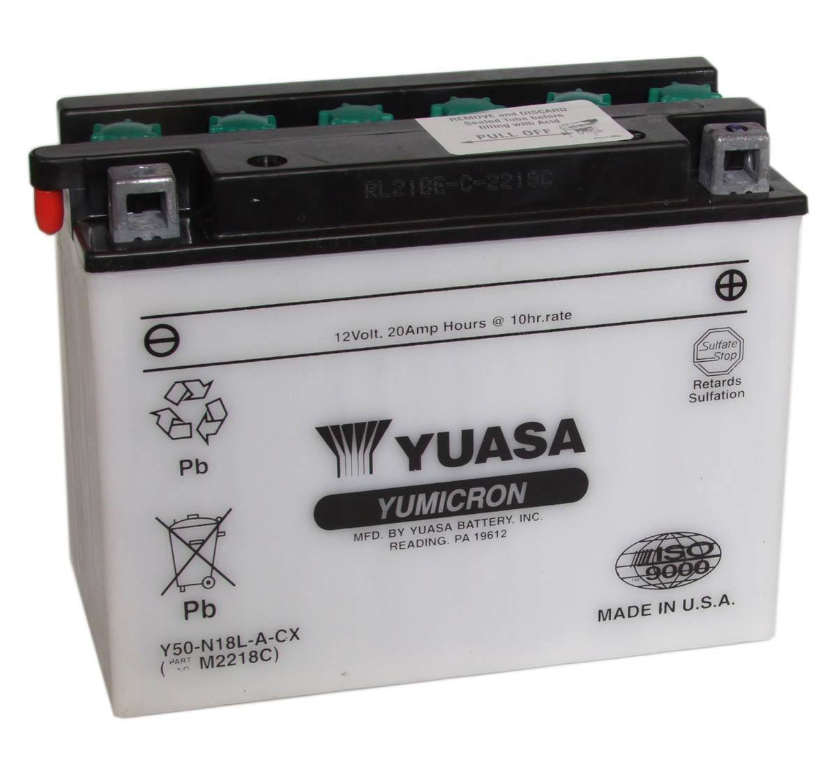 Y50-N18L-A-CX Yuasa Motorcycle Battery