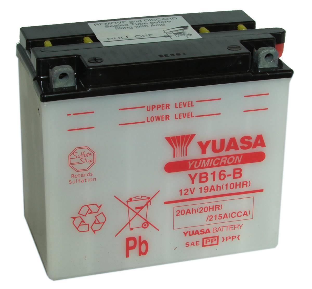 Harley Davidson Battery >> Yuasa Yb16 B 12v Motorcycle Battery