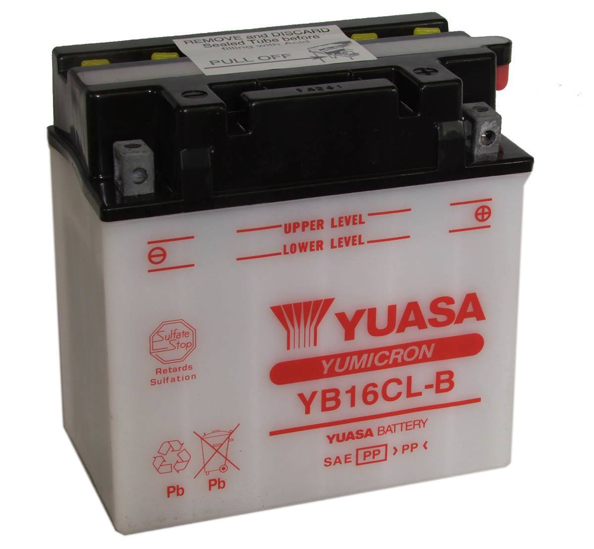 Yuasa YB16CL-B Jet Ski Motorcycle Battery