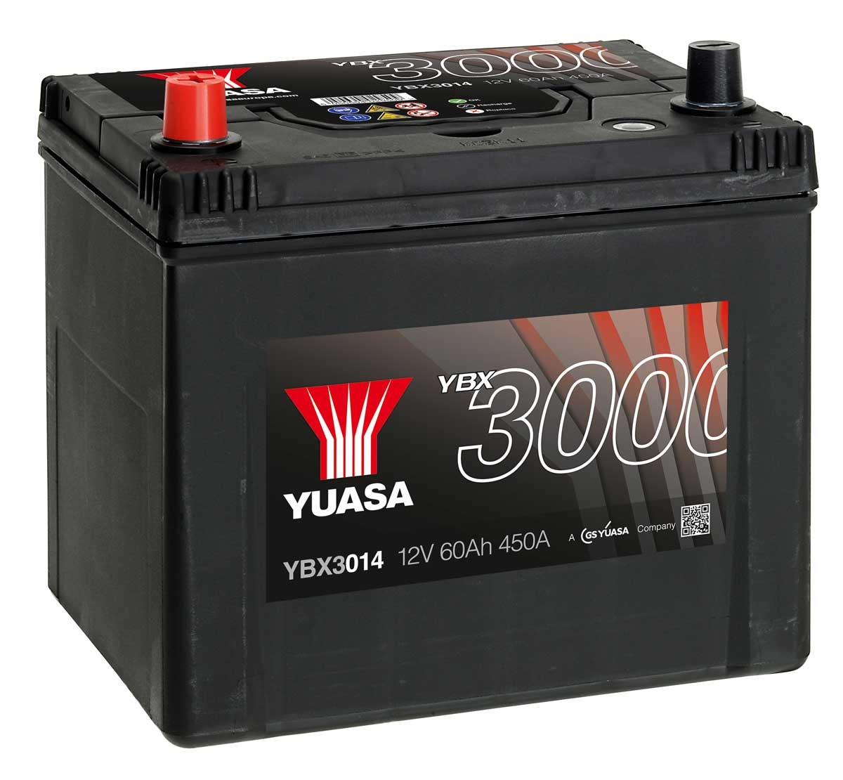 yuasa ybx3014 12v smf car battery inc free deliverty mds. Black Bedroom Furniture Sets. Home Design Ideas