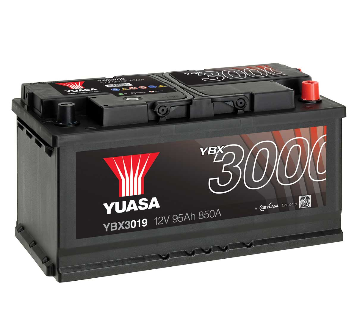 yuasa ybx3019 12v car battery mds battery. Black Bedroom Furniture Sets. Home Design Ideas
