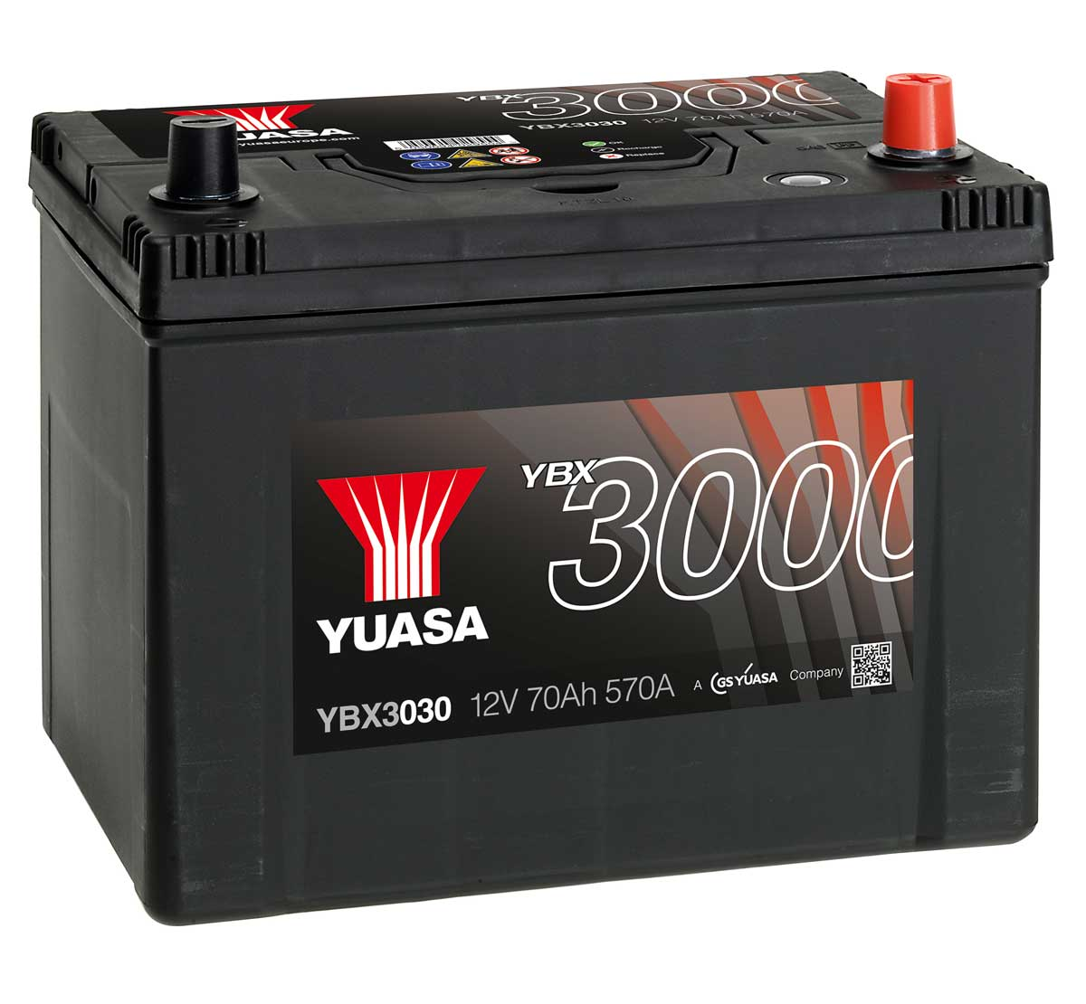 yuasa ybx3030 12v car battery mds battery. Black Bedroom Furniture Sets. Home Design Ideas