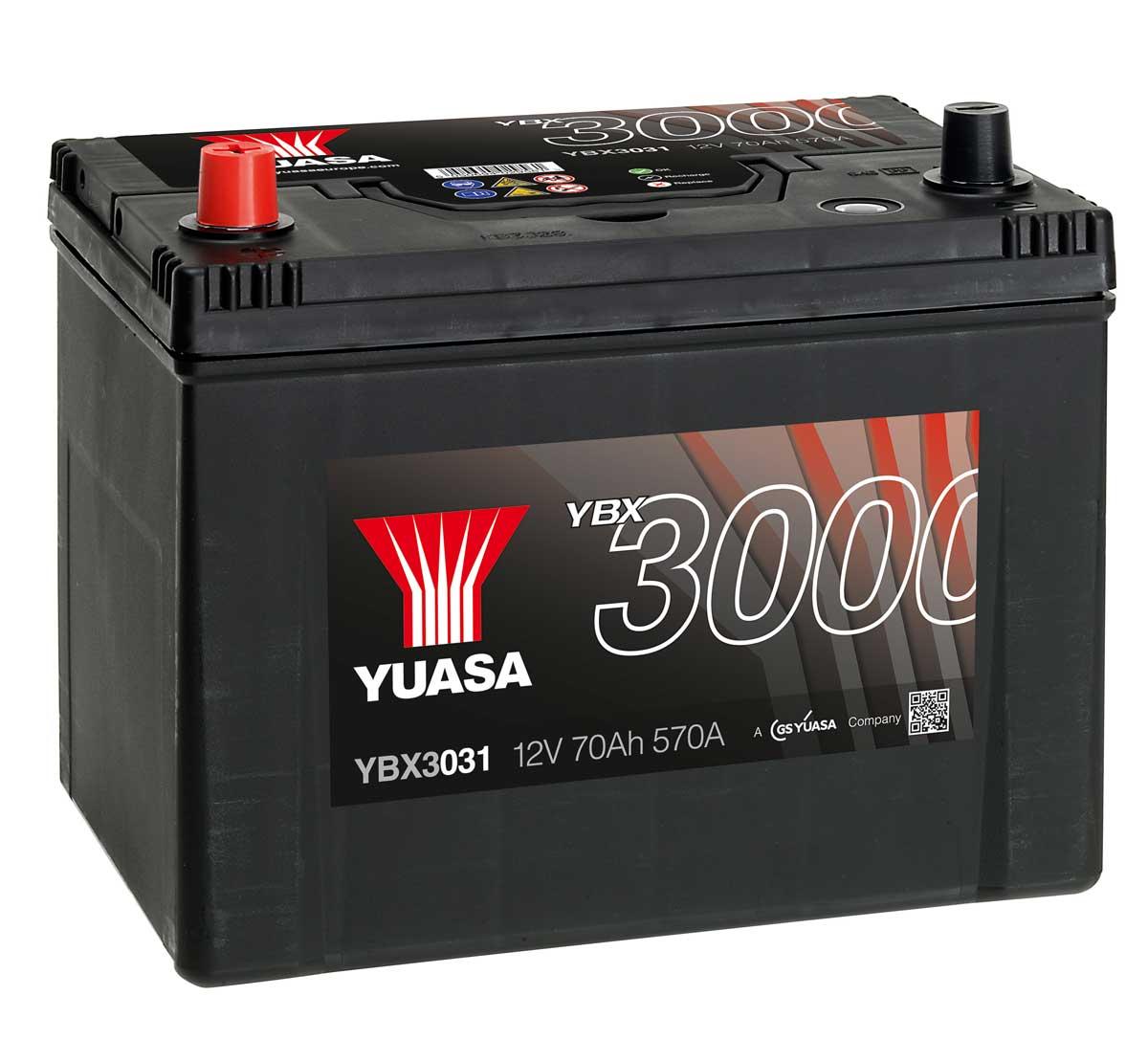 yuasa ybx3031 12v car battery mds battery. Black Bedroom Furniture Sets. Home Design Ideas