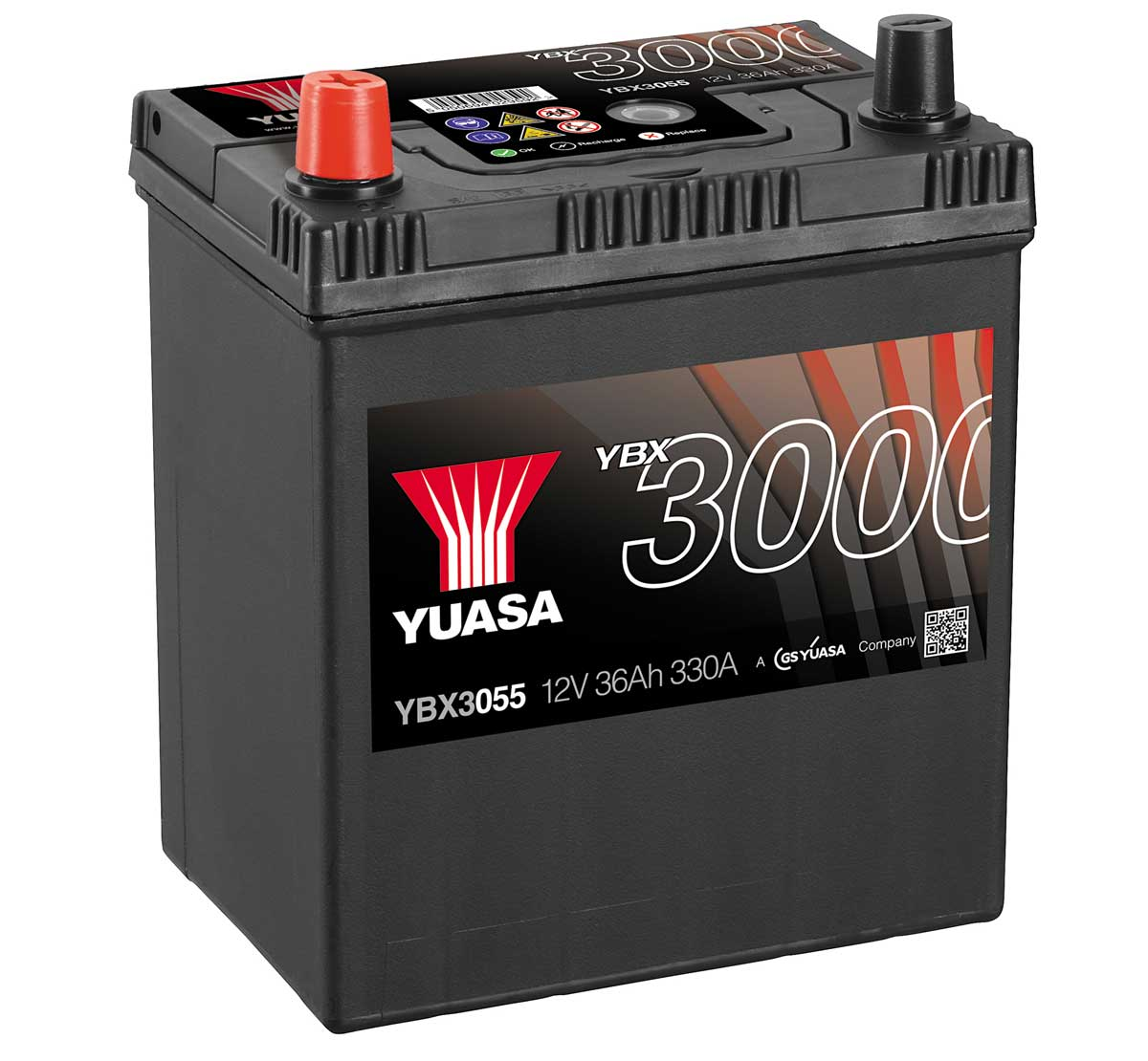 Yuasa YBX3055 12V Replacement Car Battery