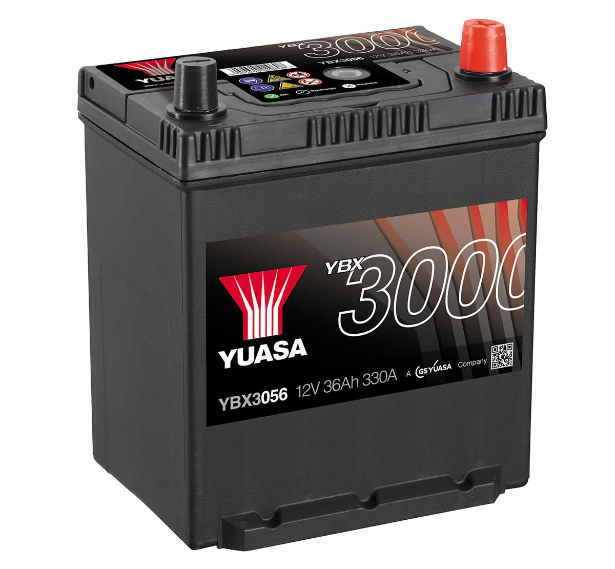 Yuasa YBX3056 12V 36Ah 056 Type Car Battery