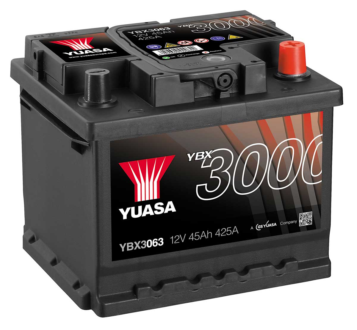 Yuasa Ybx3063 12v Car Battery Mds Battery