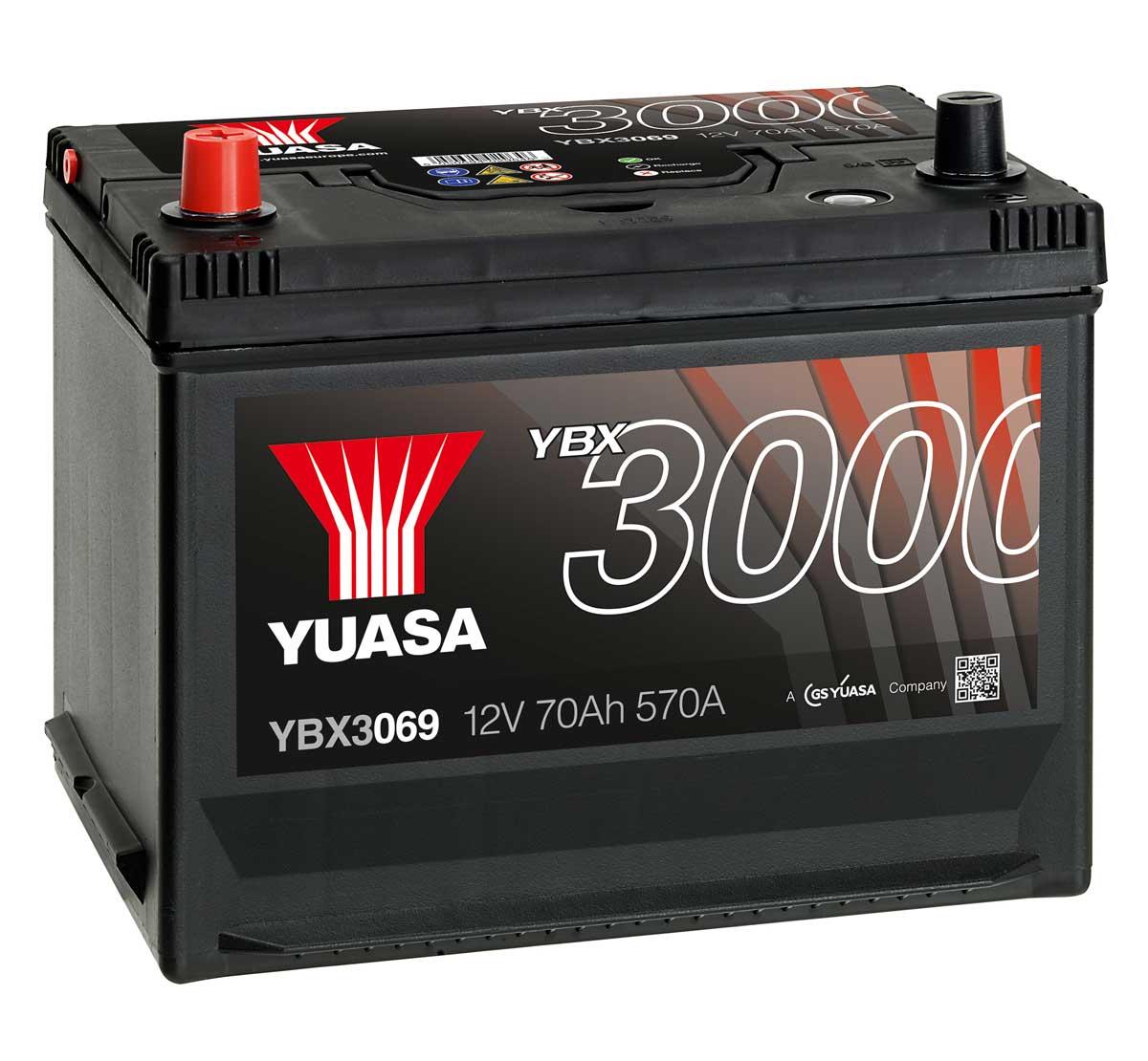 yuasa ybx3069 12v car battery mds battery. Black Bedroom Furniture Sets. Home Design Ideas