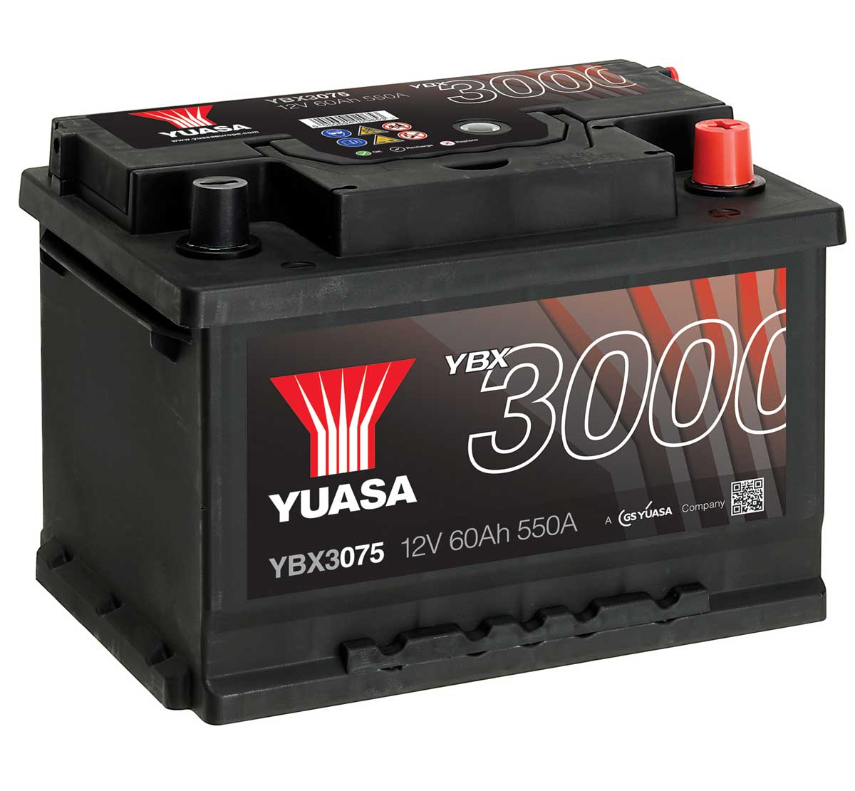 Yuasa YBX3075 12V Replacement Car Battery