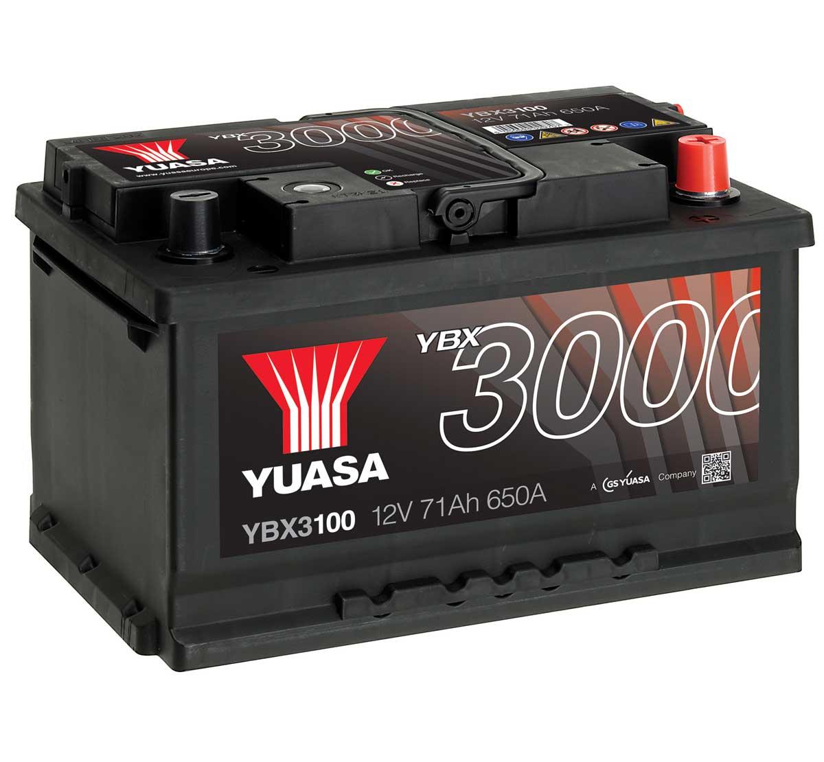 yuasa ybx3100 12v car battery mds battery. Black Bedroom Furniture Sets. Home Design Ideas
