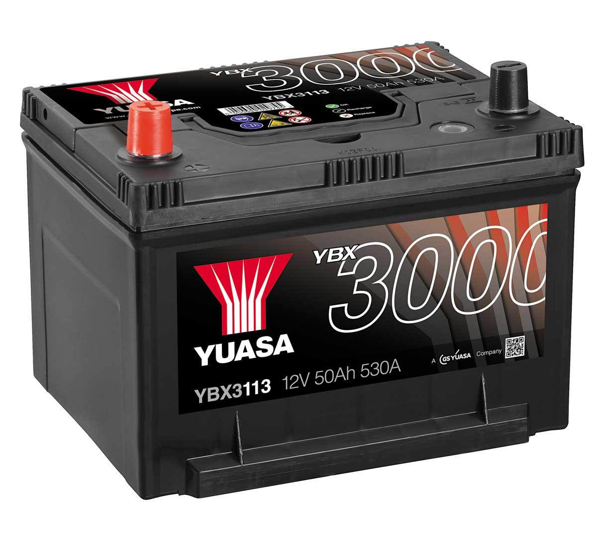 yuasa ybx3113 12v car battery mds battery. Black Bedroom Furniture Sets. Home Design Ideas