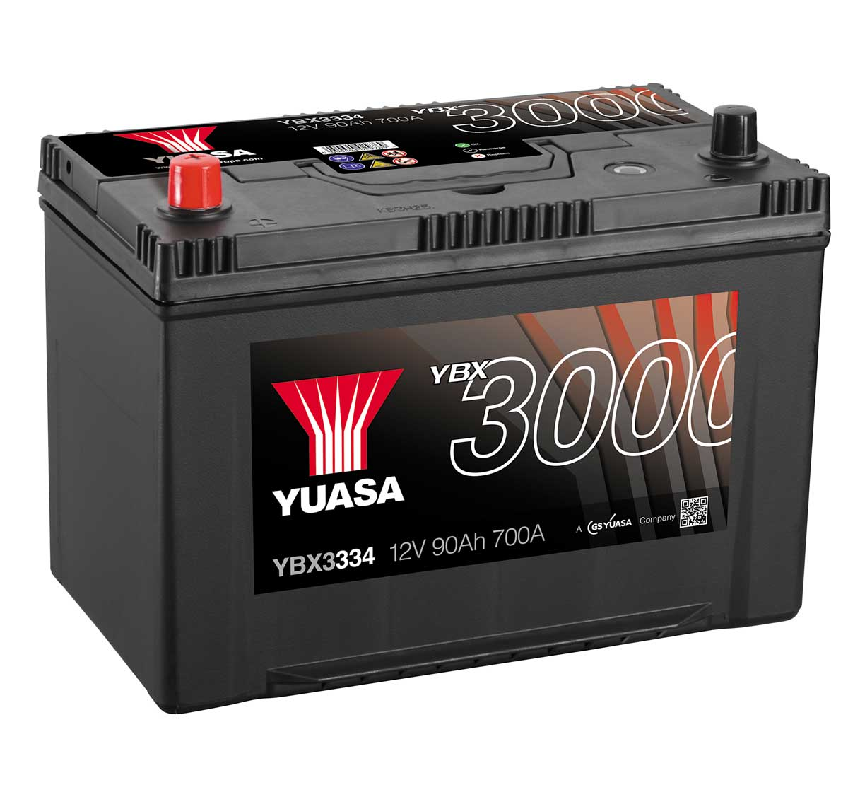 yuasa ybx3334 12v car battery mds battery. Black Bedroom Furniture Sets. Home Design Ideas