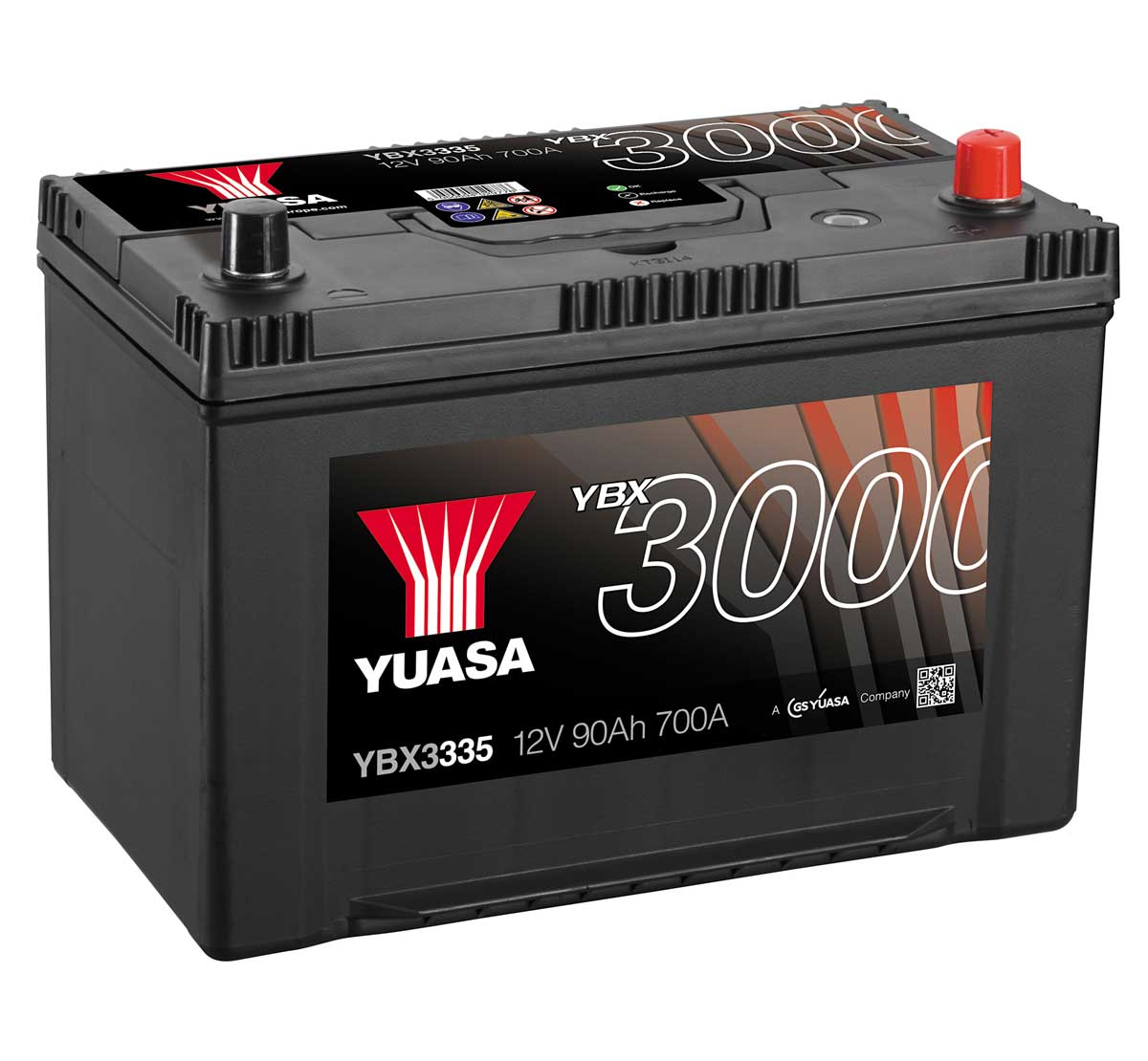 Yuasa YBX3335 335 Size 12V Sealed Car Battery