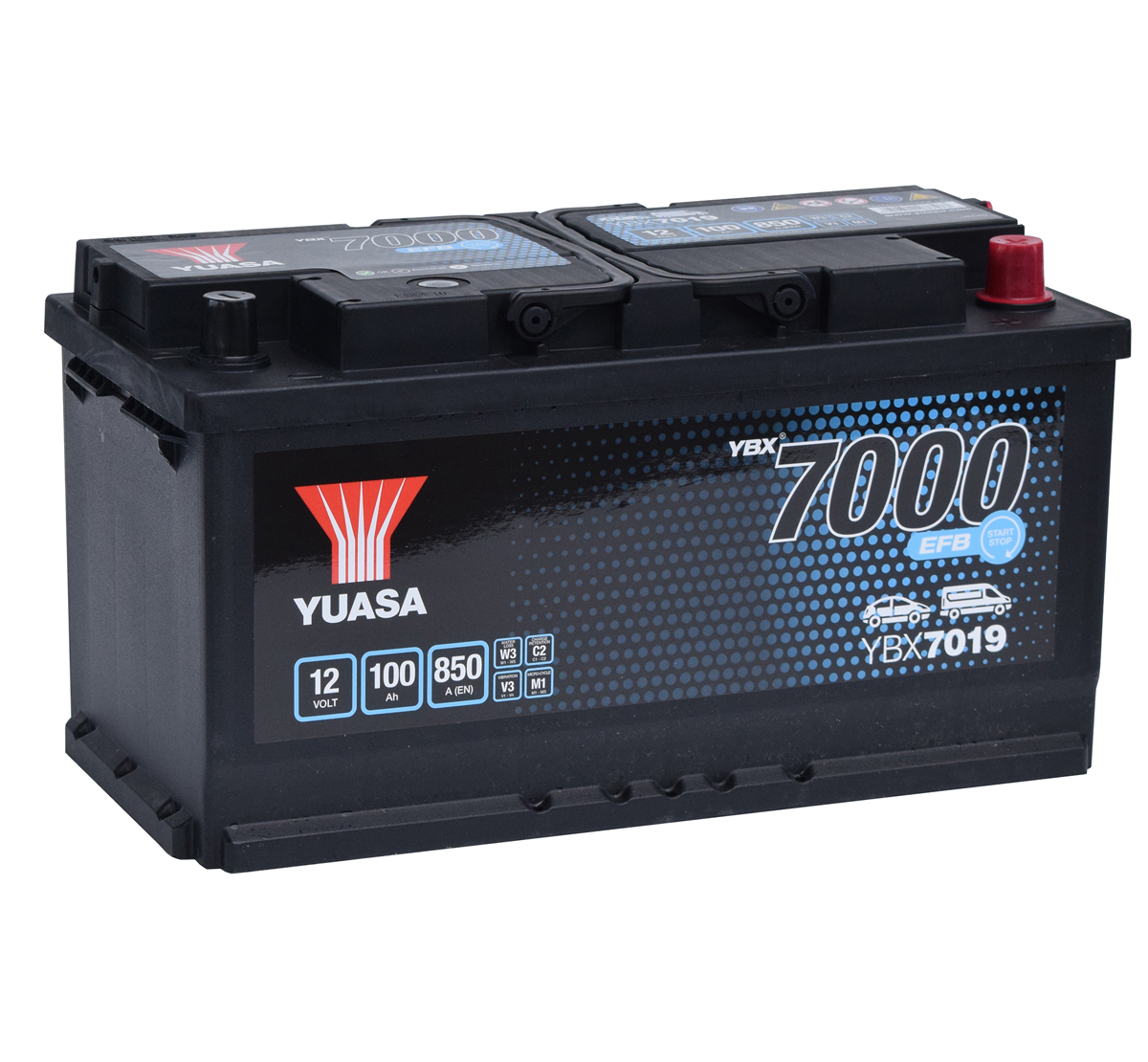Yuasa YBX7019 12V EFB Stop Start Plus Car Battery