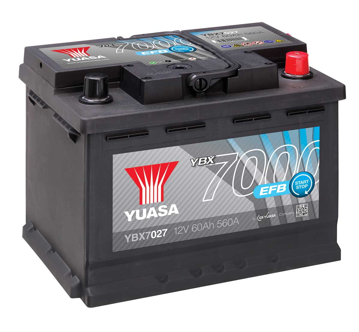 yuasa ybx7027 efb car battery mds battery. Black Bedroom Furniture Sets. Home Design Ideas