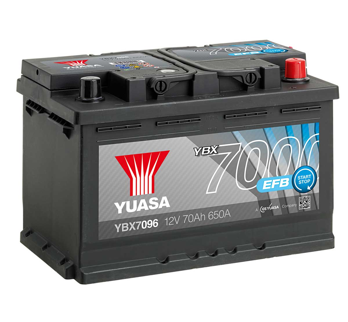 yuasa ybx7096 efb high performance 12v car battery mds. Black Bedroom Furniture Sets. Home Design Ideas