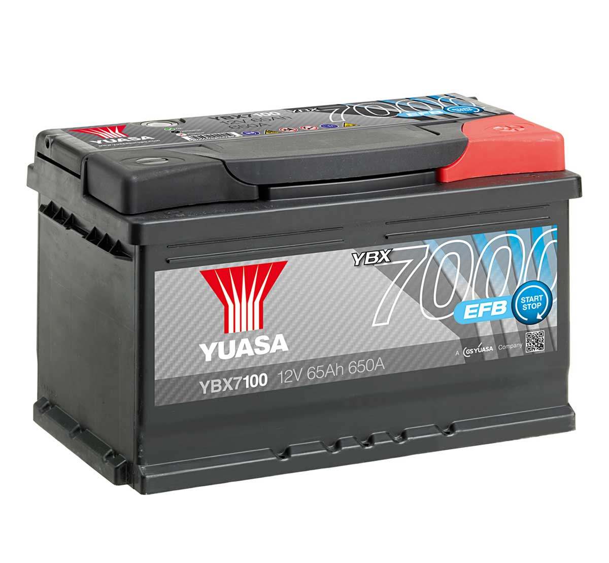 Yuasa Ybx7100 Efb Stop Start Plus 12v Car Battery Mds Battery