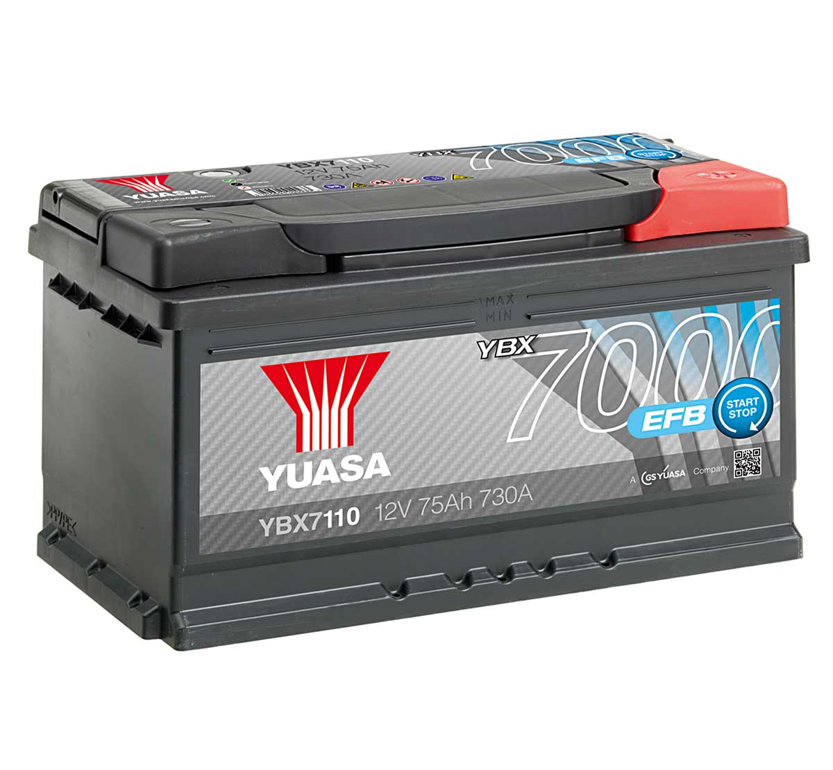 Yuasa YBX7110 12V Stop Start Plus 110 Car Battery