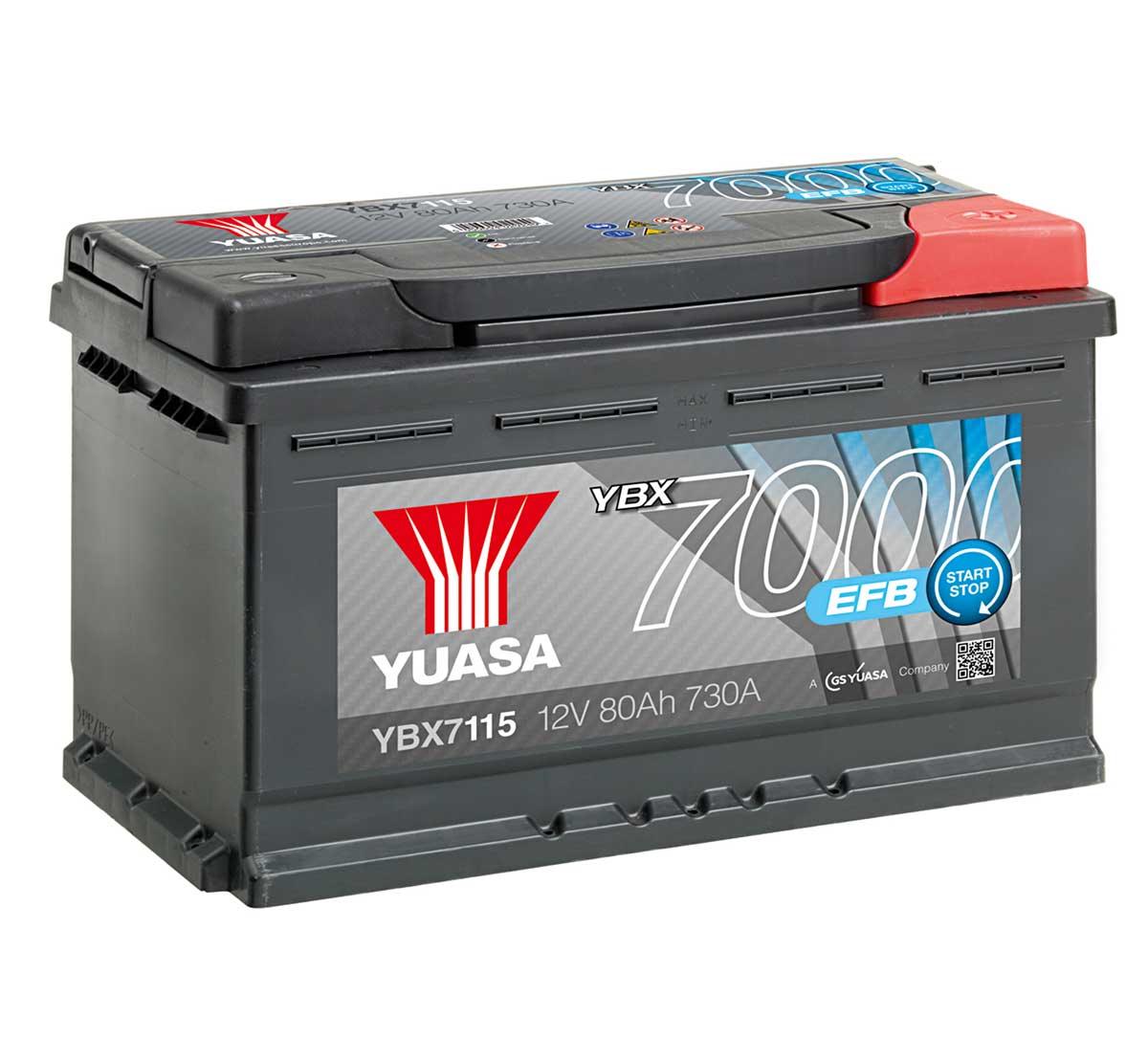 Yuasa YBX7115 12V Stop Start 115 Car Battery
